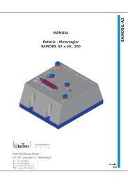 MANUAL Batterie - Motorregler BAMOBIL A2-x-50...200 - UNITEK ...
