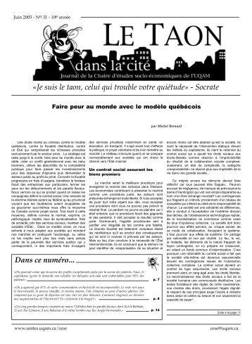 Taon-juin 2005 - Serveur des unités administratives - UQAM