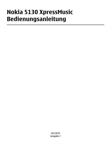 Nokia 5130 XpressMusic Bedienungsanleitung