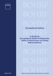 Occupational Asthma A Guide for Occupational Health Professionals ...