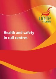Health and safety in call centres - Unite the Union