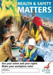 Health & Safety Matters - Outdoors setting - Unite the Union
