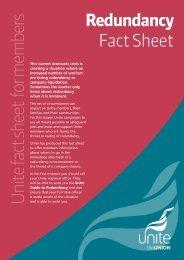 Redundancy Fact Sheet - Unite the Union