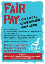 Share five key facts about fair pay - Unite the Union