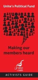 Making our members heard - Unite the Union