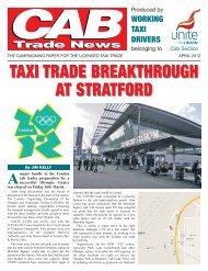 Taxi trade breakthrough at Stratford - Unite the Union