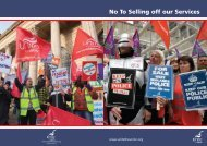 No to selling off our services - Unite the Union