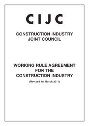CIJC Working Rule Agreement 2012 - Unite the Union