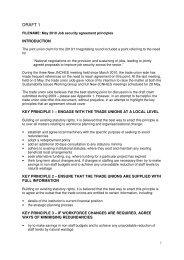 Job security agreement principles - Unite the Union
