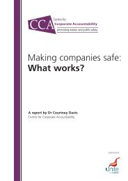 Making Companies Safe - what works? (CCA ... - Unite the Union
