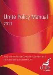 Unite Policy Manual - Unite the Union