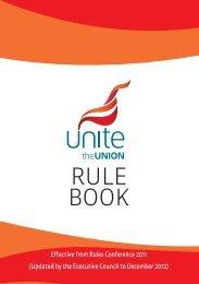 Rule Book Dec 2012 - Unite the Union