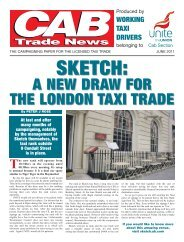 Sketch: A new draw for the London taxi trade - Unite the Union