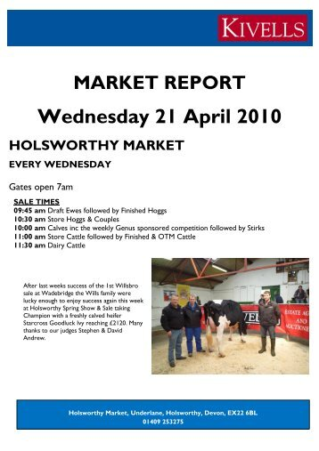 to download the Holsworthy Market Report - Meat Trade News Daily