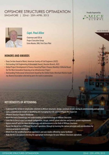 OFFSHORE STRUCTURES OPTIMIZATION - Project Executive Group