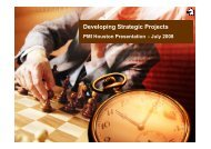 Developing Strategic Projects - Project Executive Group