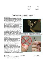 Making Stronger Three-Piece Eyewear - Signet Armorlite, Inc.