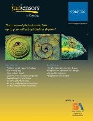 Corning SunSensors 1.56 Sell Sheet - Signet Armorlite, Inc.