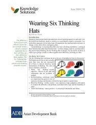 Wearing Six Thinking Hats - Ipface.org