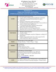 Workshop on Patent Act, Procedure and Drafting (Useful ... - Ipface.org