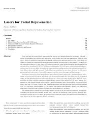 Lasers for Facial Rejuvenation