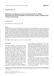 Reduction of subcutaneous fat and improvement in cellulite ...