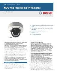 NDC-455 FlexiDome IP Kameras - Bosch Security Systems