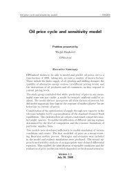 Oil price cycle and sensitivity model - Mathematics in Industry