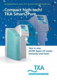 Everyday ultrapure water. Even for demanding ... - Optima Scientific