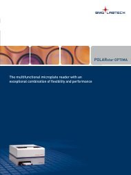 The multifunctional microplate reader with an ... - BMG Labtech