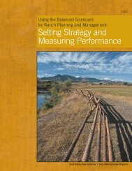 Using the Balanced Scorecard for Ranch Planning and Marketing ...