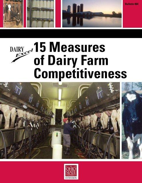 15 Measures of Dairy Farm Competitiveness - Ohioline - The Ohio ...
