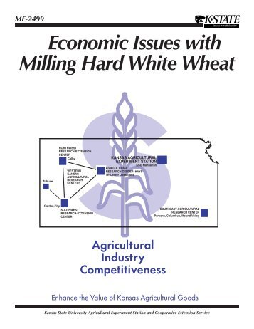 MF2499 Economic Issues with Milling Hard White Wheat