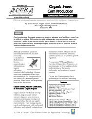 organic sweet corn production - National Ag Risk Education Library ...