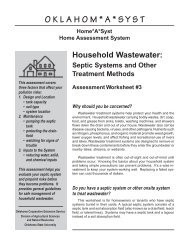 Household Wastewater: Septic Systems and Other Treatment Methods