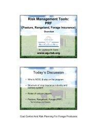 Pasture, Rangeland, Forage (PRF) - National Ag Risk Education ...