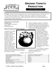 Organic Tomato Production - National Ag Risk Education Library