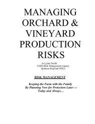 managing orchard & vineyard production risks - Forum for ...