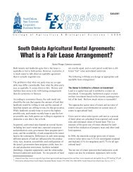 South Dakota Agricultural Rental Agreements - National Ag Risk ...