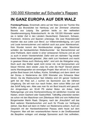 IN GANZ EUROPA AUF DER WALZ - in Freinberg