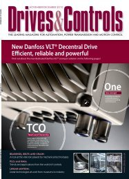 New Danfoss VLT® Decentral Drive E cient, reliable and powerful