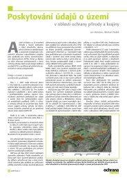 Poskytování údajů o území - Časopis Ochrana přírody