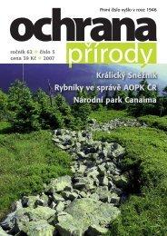 Ochrana přírody č. 5/2007 - Časopis Ochrana přírody