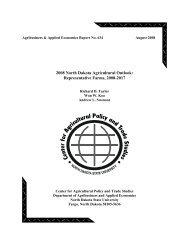 2008 North Dakota Agricultural Outlook: Representative Farms, 2008
