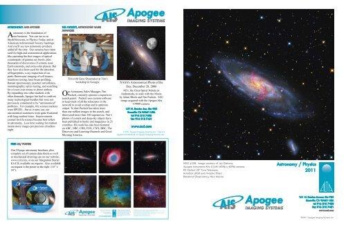 Astronomy / Physics 2011 - Apogee Instruments, Inc.
