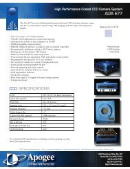 ALTA E77 CCD SPECIFICATIONS - Apogee Instruments, Inc