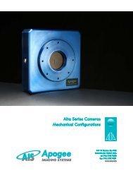 Alta Series Cameras Mechanical Configurations - Apogee ...