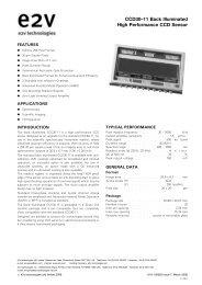 E2V CCD30-11 - Apogee Instruments, Inc.