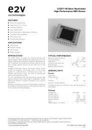 CCD77-00 Back Illuminated High Performance IMO Device