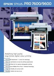 Redefining high quality large format digital colour printing